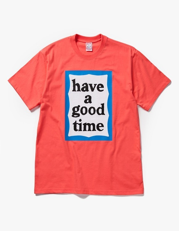 have a good time Big Blue Frame S/S Tee - Coral | HEIGHTS. | 하이츠 온라인 스토어