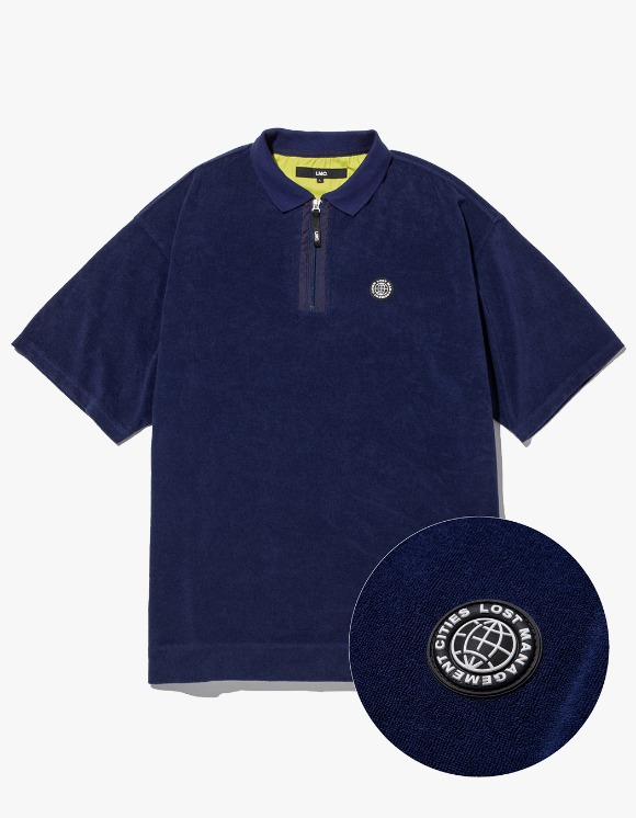 LMC LMC TERRY ZIP POLO SHIRT navy | HEIGHTS. | 하이츠 온라인 스토어