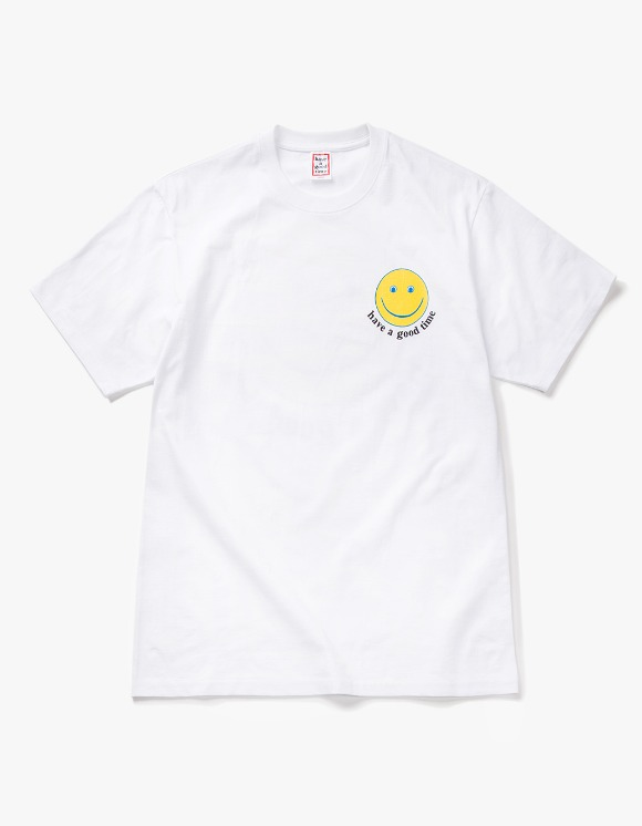 have a good time Smile S/S Tee - White | HEIGHTS. | 하이츠 온라인 스토어