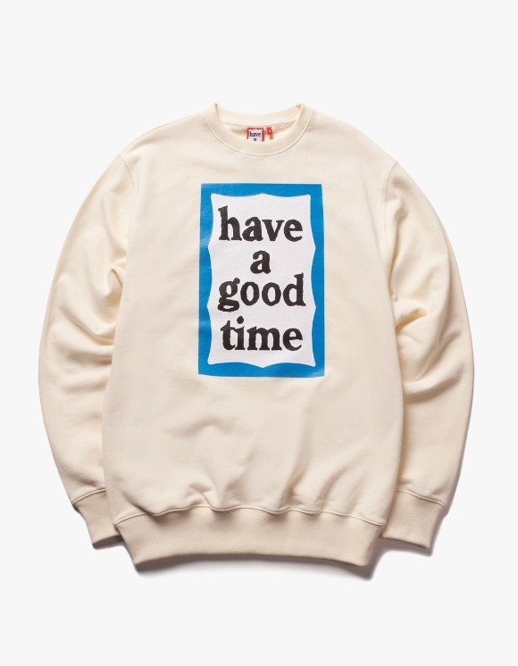 have a good time Blue Frame Crewneck - Cream | HEIGHTS. | 하이츠 온라인 스토어