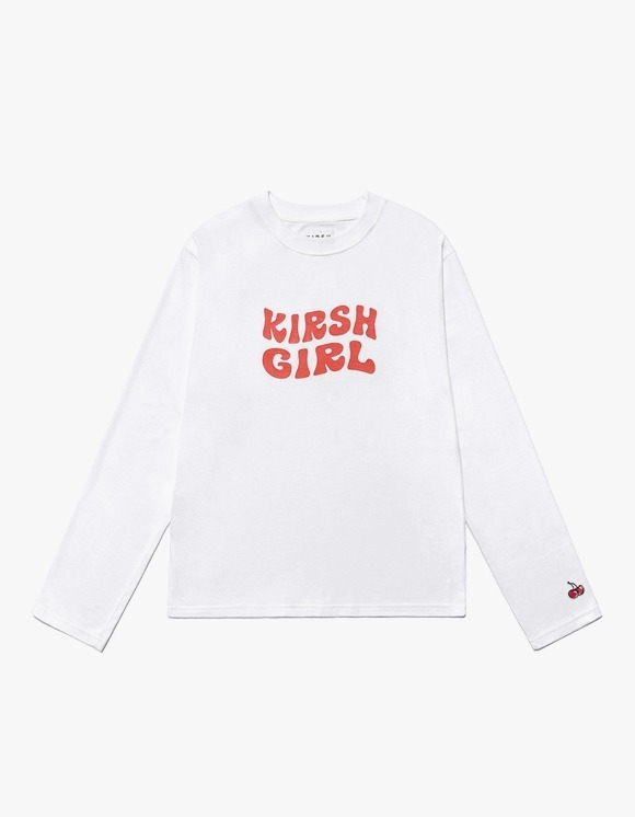 KIRSH KIRSH Girl Logo Tee IS - White | HEIGHTS. | 하이츠 온라인 스토어