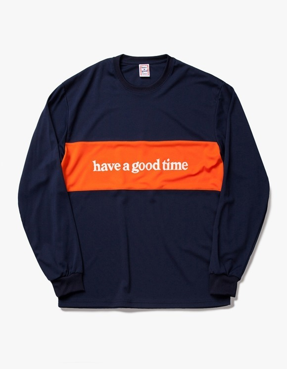 have a good time Panel Jersey L/S Tee - Navy | HEIGHTS. | 하이츠 온라인 스토어