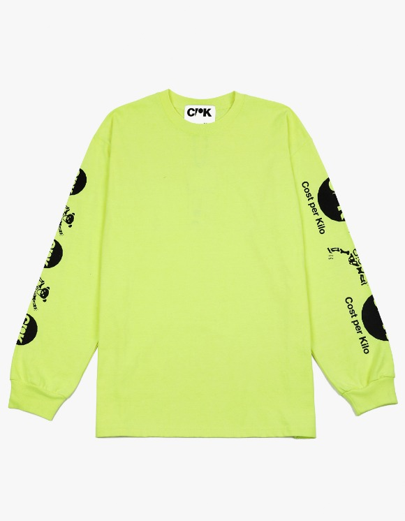 Cost Per Kilo Dead Bear L/S Tee - Neon Green | HEIGHTS. | 하이츠 온라인 스토어