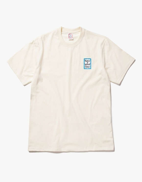 have a good time Mini Blue Frame S/S Tee - Cream | HEIGHTS. | 하이츠 온라인 스토어