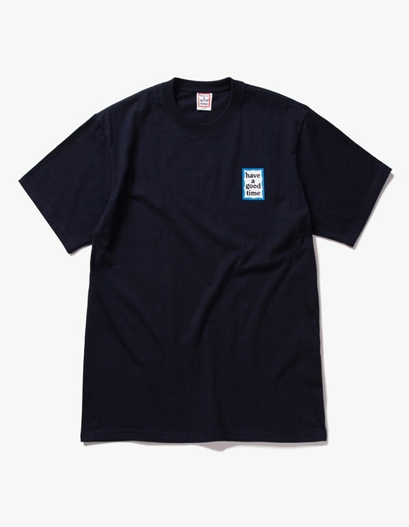 have a good time Mini Blue Frame S/S Tee - Navy | HEIGHTS. | 하이츠 온라인 스토어