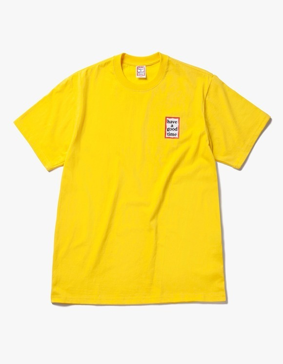 have a good time Mini Frame S/S Tee - Lemon | HEIGHTS. | 하이츠 온라인 스토어