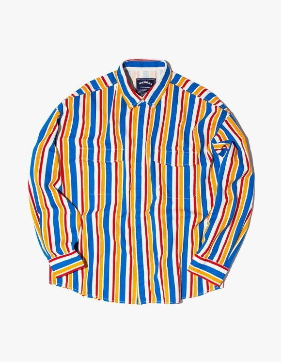 WKNDRS Retro Striped Shirts JK - Blue | HEIGHTS. | 하이츠 온라인 스토어