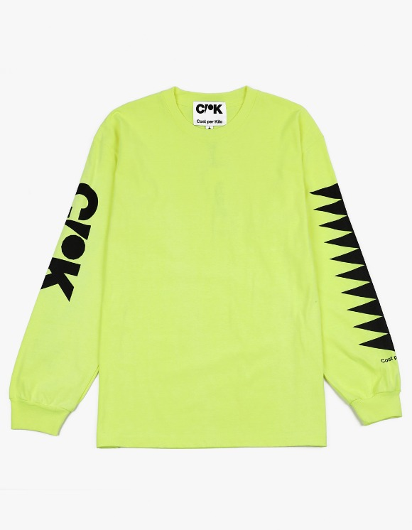 Cost Per Kilo CPK Block L/S Tee - Neon Green | HEIGHTS. | 하이츠 온라인 스토어
