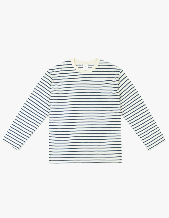 CLIF Stripe Long Sleeve Tee - Ivory | HEIGHTS. | 하이츠 온라인 스토어