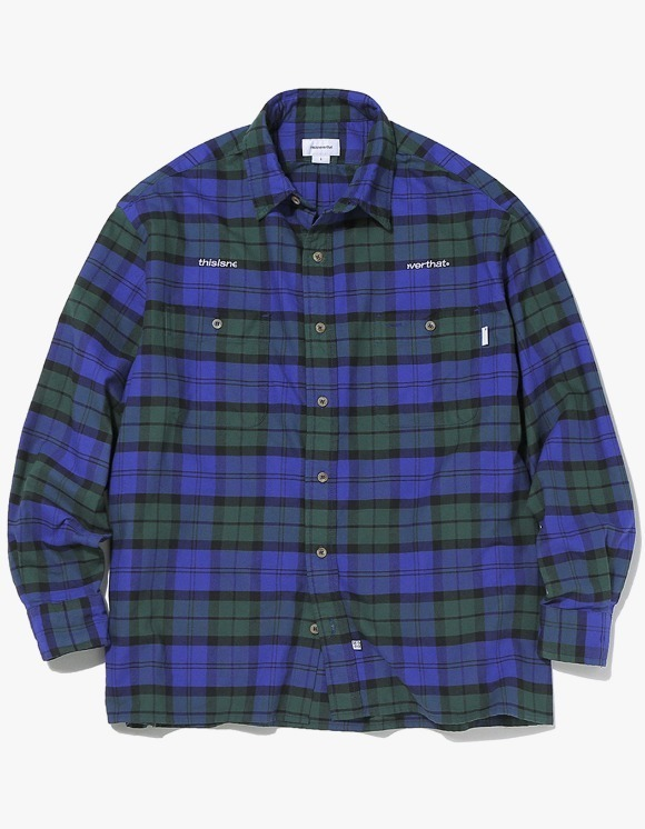 thisisneverthat HSP Check Shirt  - Navy | HEIGHTS. | 하이츠 온라인 스토어