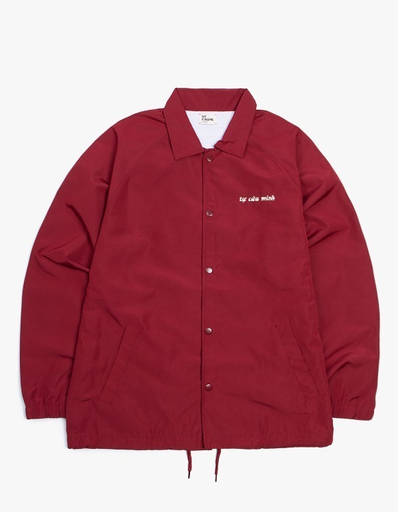 Lu-Chung Save Yourself Jacket - Burgundy | HEIGHTS. | 하이츠 온라인 스토어