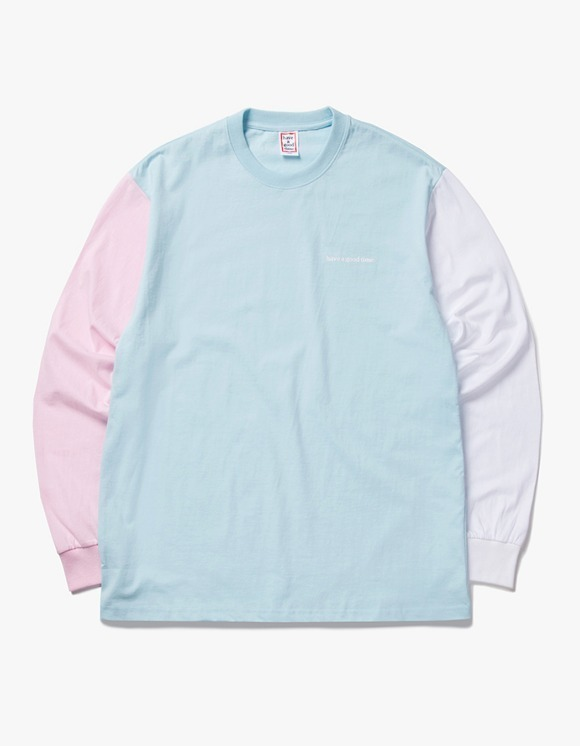 have a good time 3 Color L/S Tee - Pink / Light Blue / White | HEIGHTS. | 하이츠 온라인 스토어