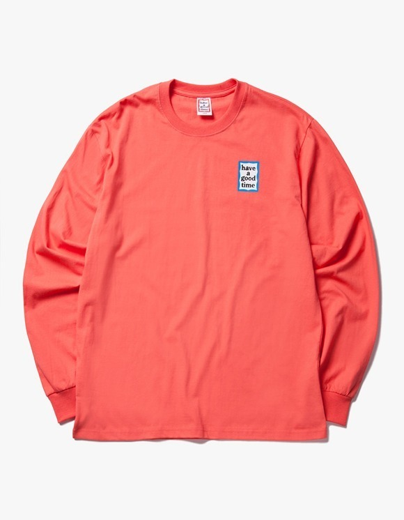 have a good time Blue Mini Frame L/S Tee - Coral | HEIGHTS. | 하이츠 온라인 스토어