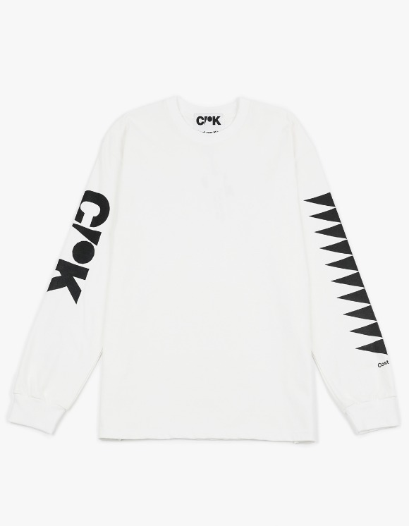Cost Per Kilo CPK Block L/S Tee - White | HEIGHTS. | 하이츠 온라인 스토어