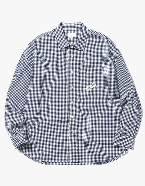 thisisneverthat DIA-Logo Gingham Check Shirt - Navy | HEIGHTS. | 하이츠 온라인 스토어