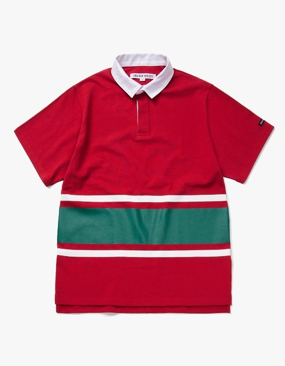 IZOLA NYC Line S/S Rugby Tee - Red | HEIGHTS. | 하이츠 온라인 스토어