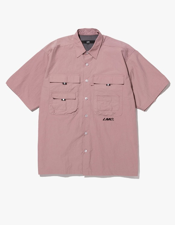 LMC LMC SHORT SLV FISHING SHIRT dk pink | HEIGHTS. | 하이츠 온라인 스토어
