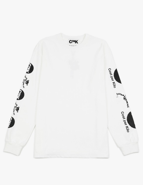 Cost Per Kilo Dead Bear L/S Tee - White | HEIGHTS. | 하이츠 온라인 스토어