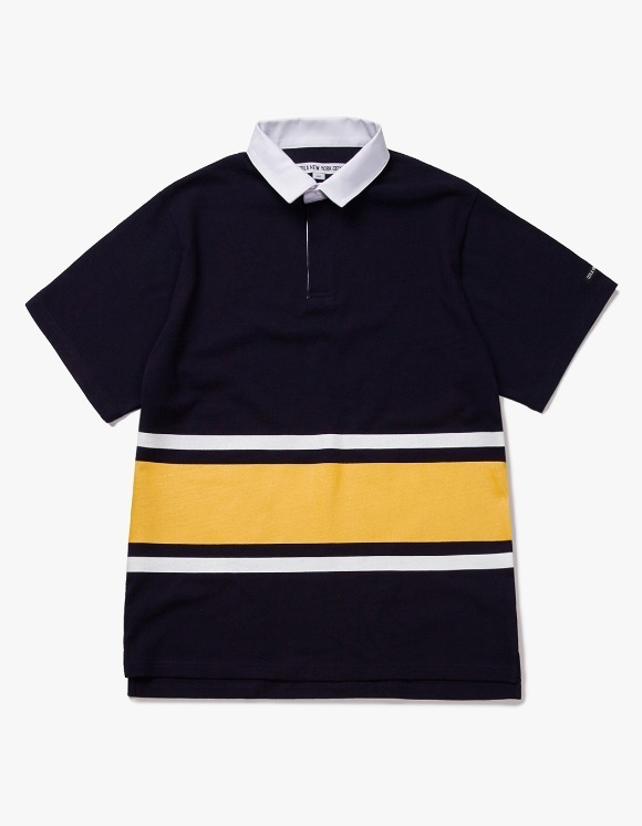 IZOLA NYC Line S/S Rugby Tee - Navy | HEIGHTS. | 하이츠 온라인 스토어