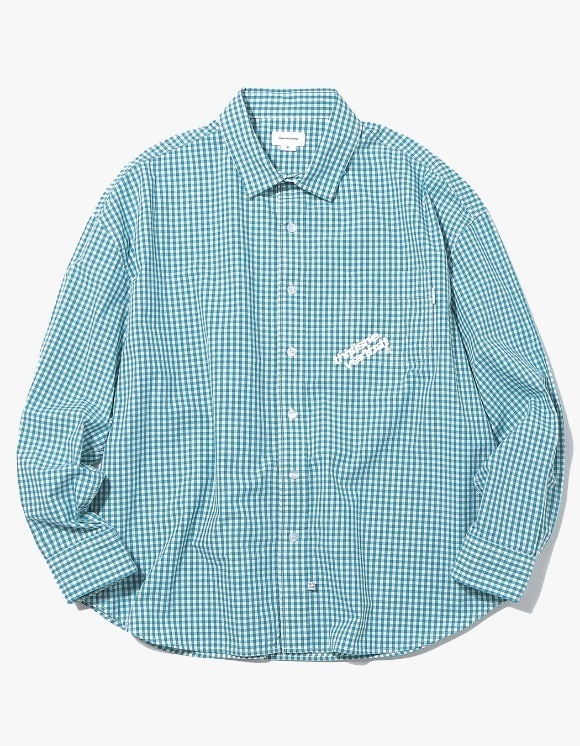 thisisneverthat DIA-Logo Gingham Check Shirt - Green | HEIGHTS. | 하이츠 온라인 스토어