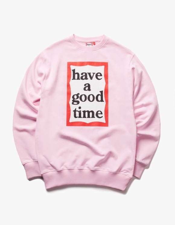 have a good time Frame Crewneck - Pink | HEIGHTS. | 하이츠 온라인 스토어