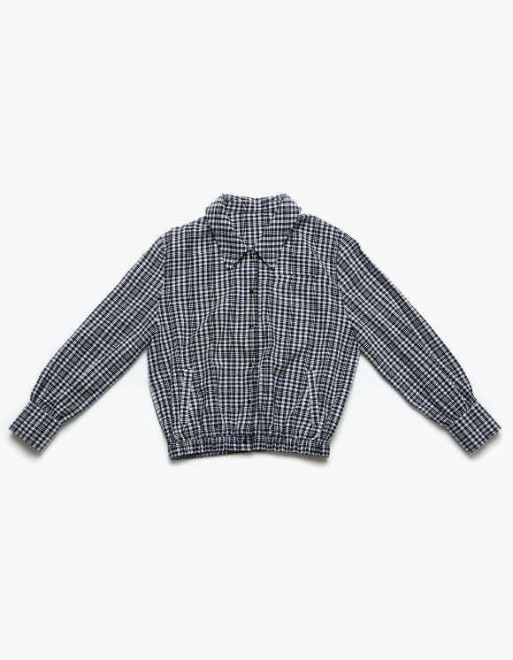 Margarin Fingers Check Shirt Jacket - Blue | HEIGHTS. | 하이츠 온라인 스토어