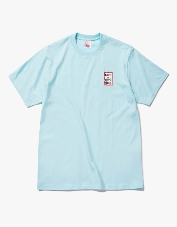 have a good time Mini Frame S/S Tee - Sky Blue | HEIGHTS. | 하이츠 온라인 스토어