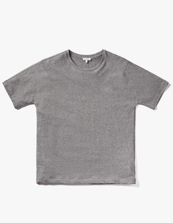 AECA WHITE Bill Half Sleeve Tee - Grey | HEIGHTS. | 하이츠 온라인 스토어