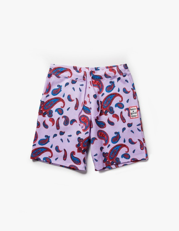have a good time Paisley Mini Frame Sweat Shorts - Violet | HEIGHTS. | 하이츠 온라인 스토어