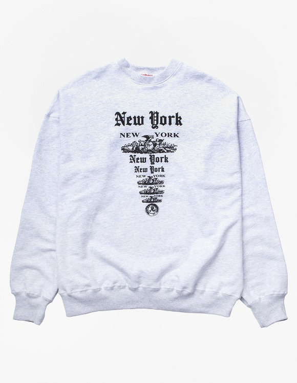 Richardson NY NY Crewneck - Heather Grey | HEIGHTS. | 하이츠 온라인 스토어