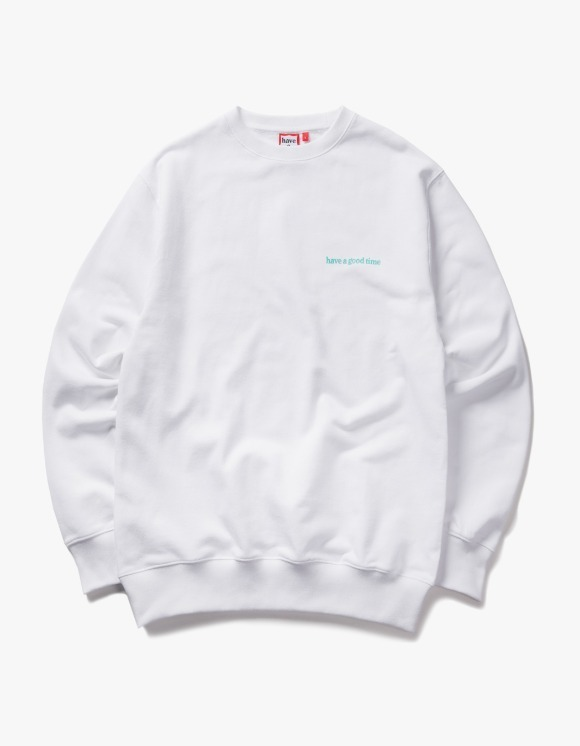 have a good time Side Logo Crewneck - White | HEIGHTS. | 하이츠 온라인 스토어