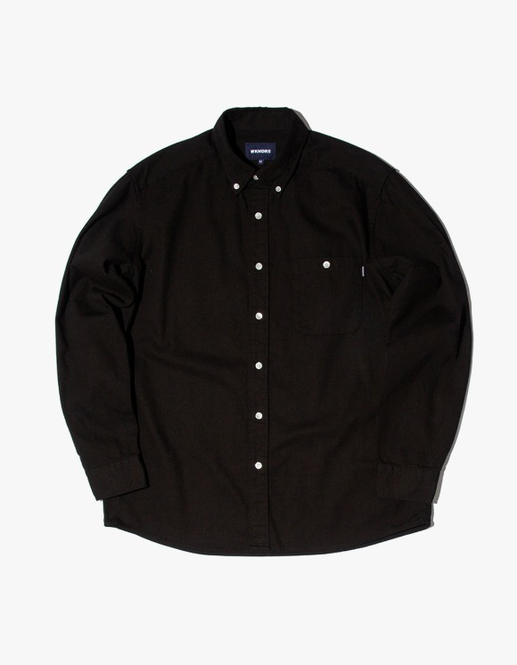 WKNDRS Striped Denim Shirts - Black | HEIGHTS. | 하이츠 온라인 스토어