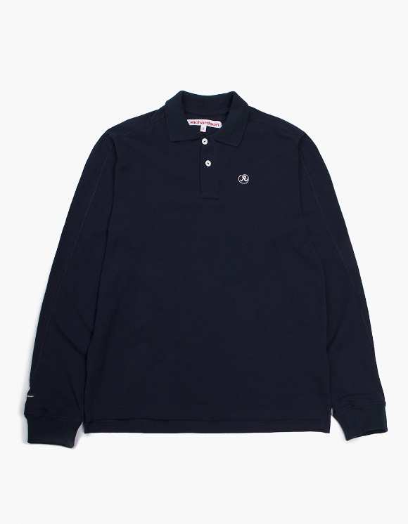 Richardson Engineered Glyph Polo Longsleeve - Midnight Blue | HEIGHTS. | 하이츠 온라인 스토어