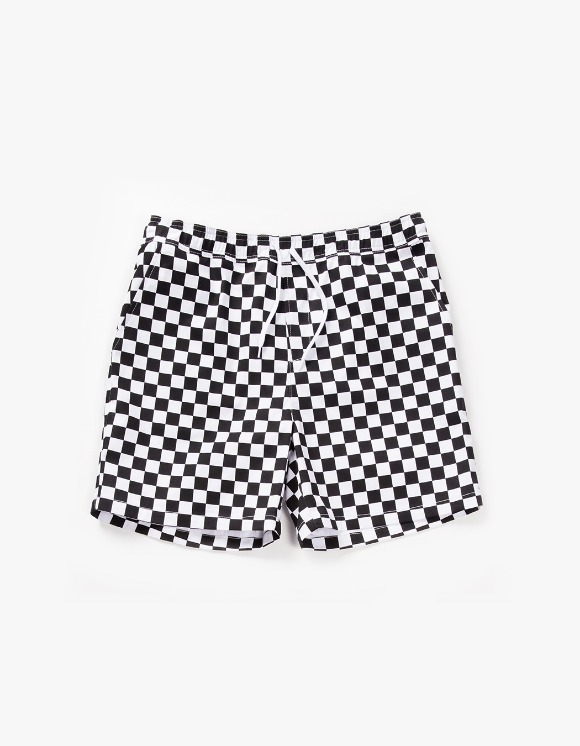 have a good time Checker Border Easy Shorts - Black | HEIGHTS. | 하이츠 온라인 스토어