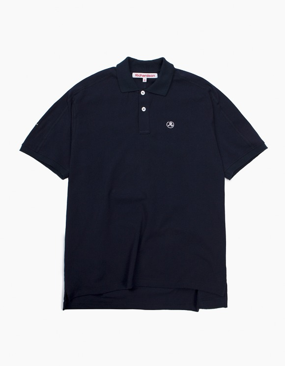 Richardson Engineered Glyph Polo Shortsleeve - Midnight Blue | HEIGHTS. | 하이츠 온라인 스토어
