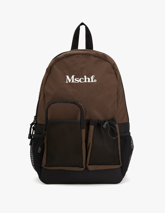 MISCHIEF Multi Pocket Nylon Backpack - Brown | HEIGHTS. | 하이츠 온라인 스토어