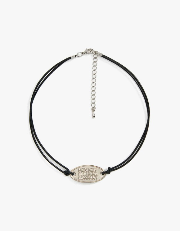 MISCHIEF Strapped Pedant Necklace - Silver/Black | HEIGHTS. | 하이츠 온라인 스토어