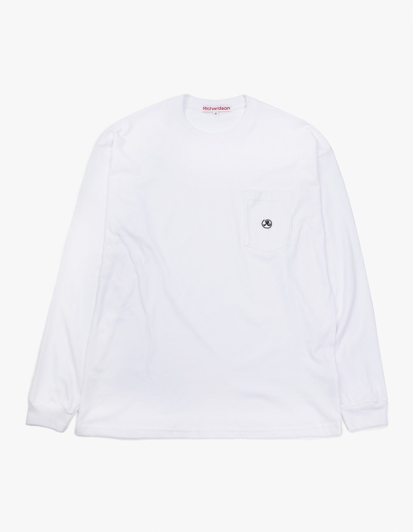 Richardson Pocket Glyph Longsleeve - White | HEIGHTS. | 하이츠 온라인 스토어