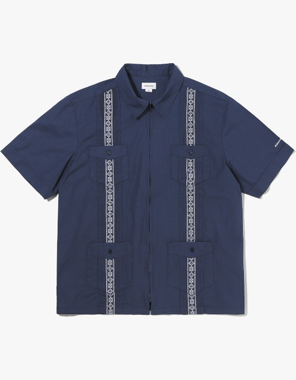 thisisneverthat TINT Pin Tuck Zip Up Shirt - Navy | HEIGHTS. | 하이츠 온라인 스토어