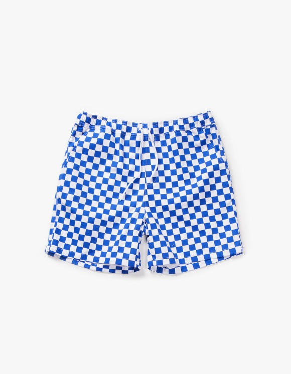 have a good time Checker Border Easy Shorts - Blue | HEIGHTS. | 하이츠 온라인 스토어