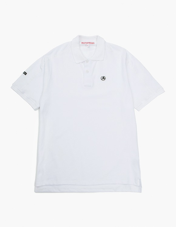 Richardson Engineered Glyph Polo Shortsleeve - White | HEIGHTS. | 하이츠 온라인 스토어