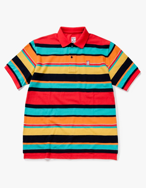 have a good time Colorful Boarder S/S Polo Shirt - Red | HEIGHTS. | 하이츠 온라인 스토어