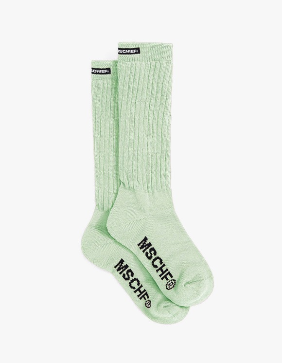 MISCHIEF Middle Tube Socks - Mint | HEIGHTS. | 하이츠 온라인 스토어