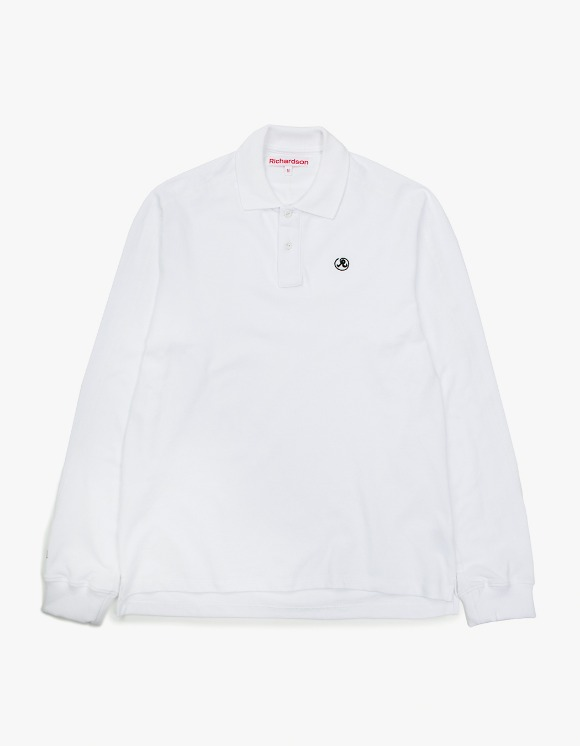 Richardson Engineered Glyph Polo Longsleeve - White | HEIGHTS. | 하이츠 온라인 스토어