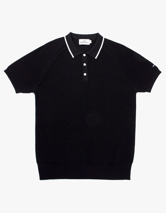 IZOLA NYC Raglan Polo knit - Black | HEIGHTS. | 하이츠 온라인 스토어