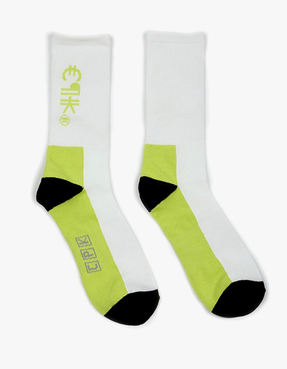 Cost Per Kilo CPK Logo Socks - White/Neon | HEIGHTS. | 하이츠 온라인 스토어
