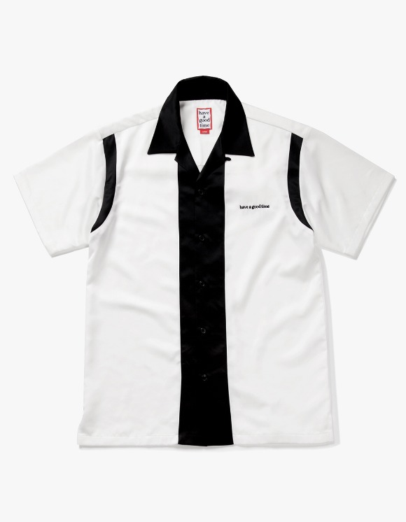 have a good time Bowling S/S Shirt - White / Black | HEIGHTS. | 하이츠 온라인 스토어