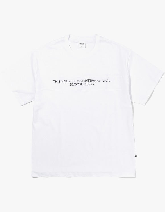 thisisneverthat TN INTL. Panel Tee - White | HEIGHTS. | 하이츠 온라인 스토어