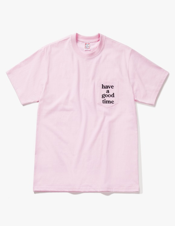 have a good time Logo Pocket S/S Tee - Pink | HEIGHTS. | 하이츠 온라인 스토어