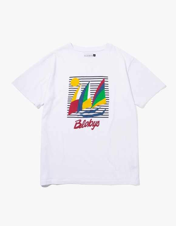 Blobys Paris Blobys Boat Tee - White | HEIGHTS. | 하이츠 온라인 스토어